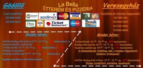 Labella Étterem és pizzéria - szép kártya elfogadóhely